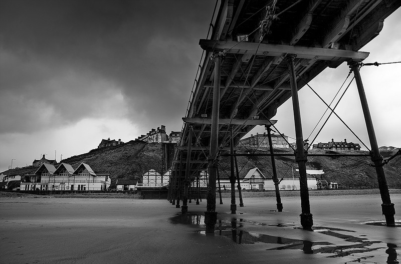 saltburn pier coast sea