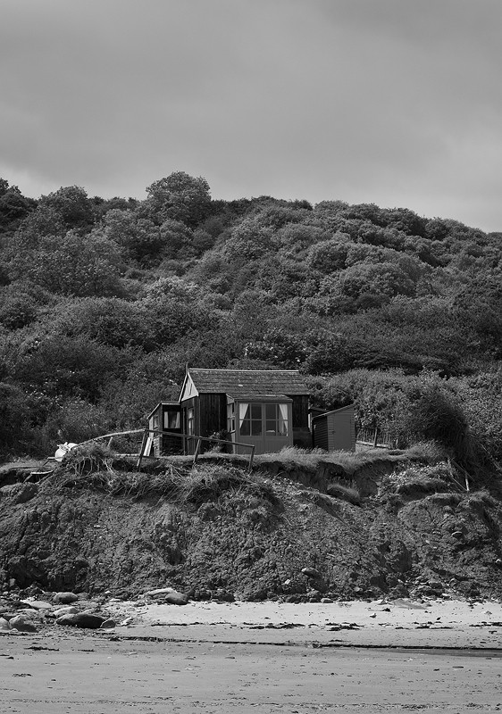 coast, shed, beach, hut