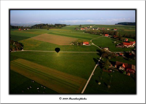 vol en  ballon.balloon flight.