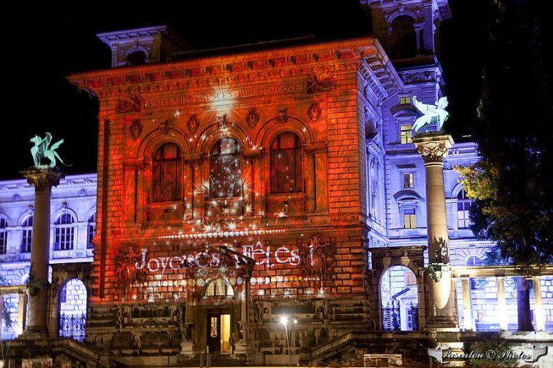 lausanne, palais de rumine, lumiere,noel,2011