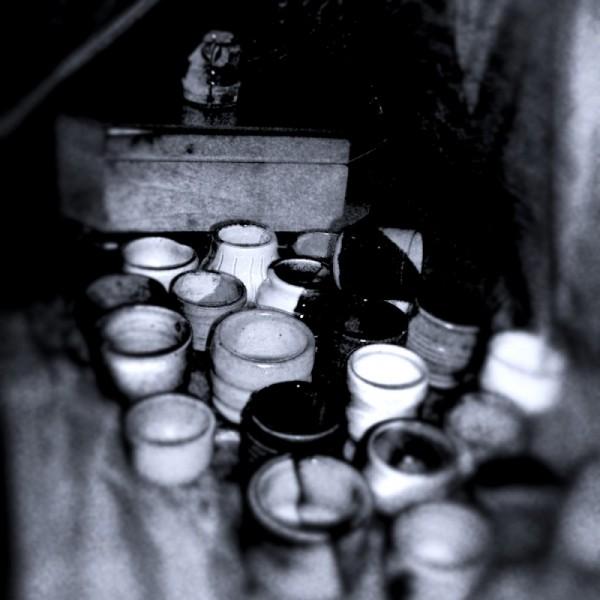 Wheel thrown shot glasses pottery ceramics