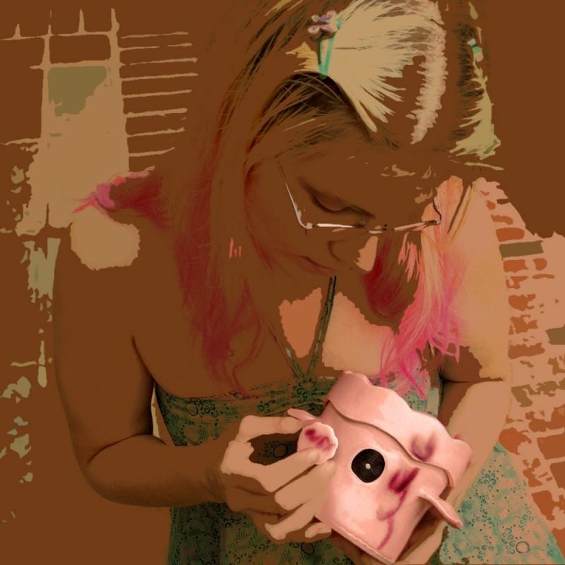 Wheel-thrown pinhole camera self-portrait