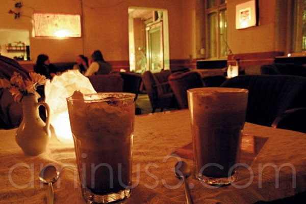 A wonderful chocolate drink in a coffee in Berlin