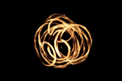Twirling fire