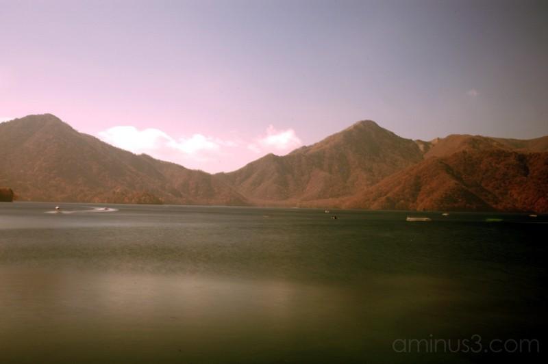 lake Chuzenjiko and mountains in nikko