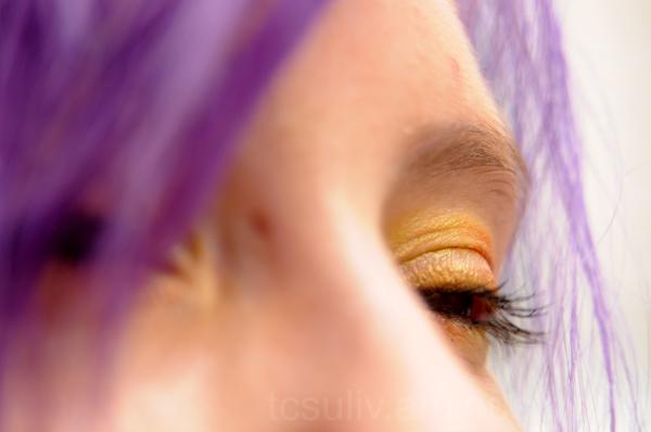portrait ポートレート 笑顔 smile eye 目 purple hair 紫紙 原宿 ギ