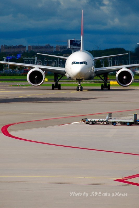 Airfield Amsterdam Airplane Parking