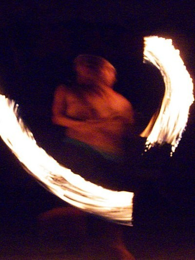 Danxia Show Fire Night