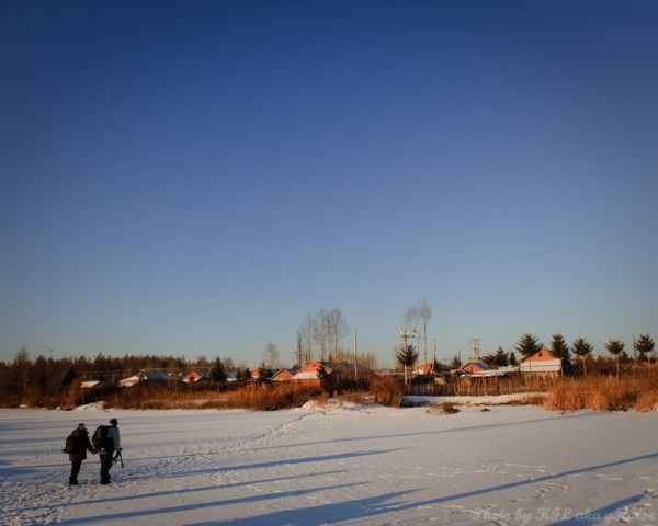 nipple river, Jilin, 吉林, 奶头河, snow, blue, sky, vil