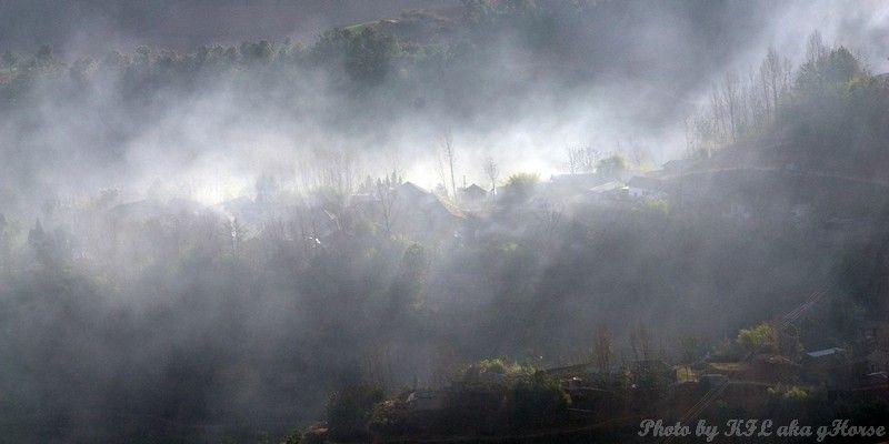 云南, 东川, 红土地, Yun Nam, Dong Chuan, redland, mist,