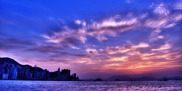 West Kowloon, Hong Kong, 香港, 西九龙, sunset, 日落, hdr,