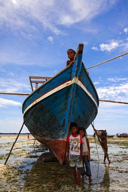 Semporna, Malaysia, blue, sky, cloud, boat, childr