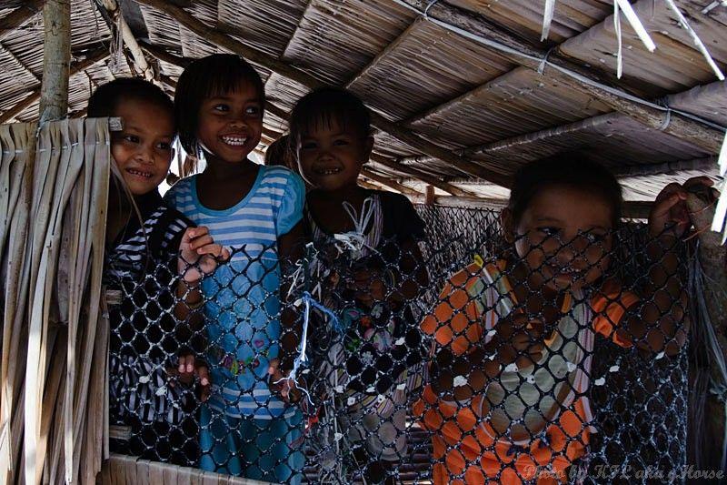 Semporna, Malaysia, children, island