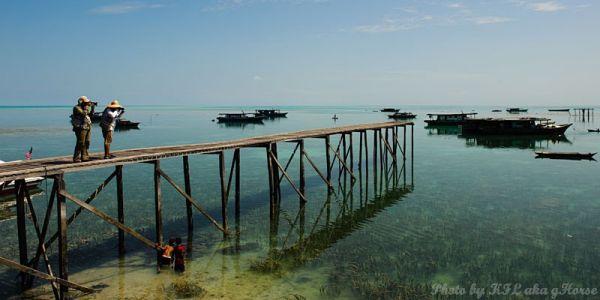 Semporna, Malaysia, blue, sky, cloud, sea, boat, b