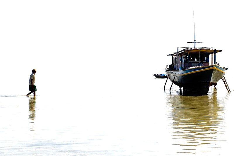 Semporna, Malaysia, people, high, key, boat