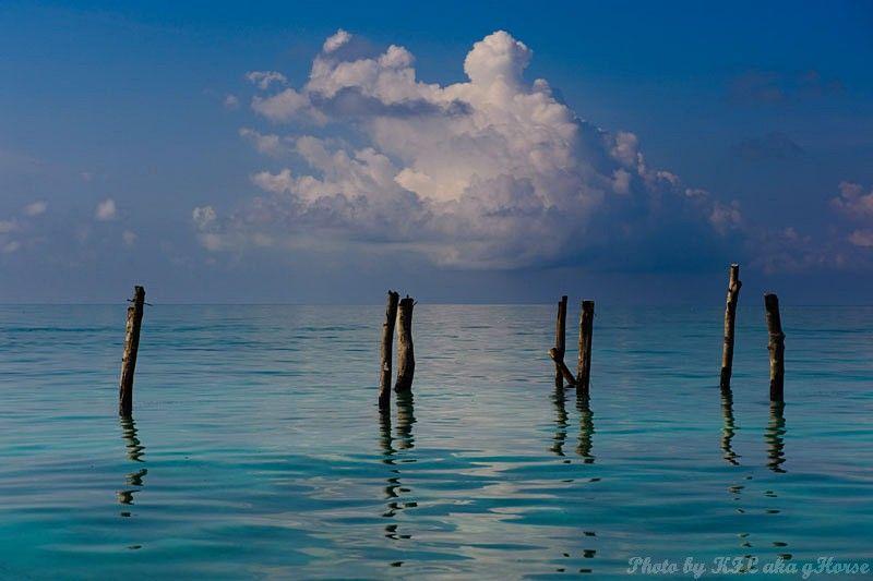 Semporna, Malaysia, sea, sky, blue, cloud