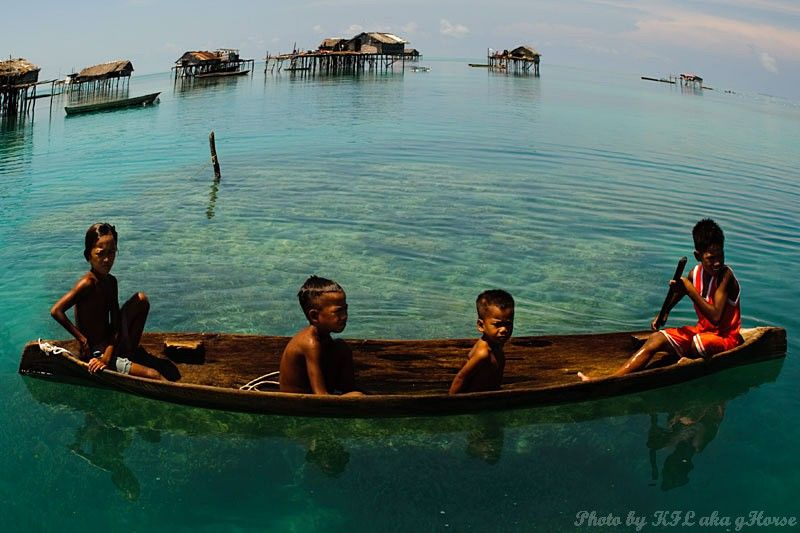 Semporna, Malaysia, sea, sky, blue, cloud, childre