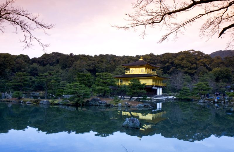 japan kyoto gold pavillion kinkaku-ji