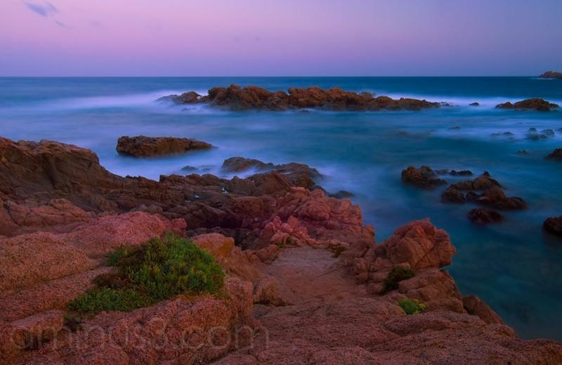 Meer, Sardinien, Langzeitbelichtung