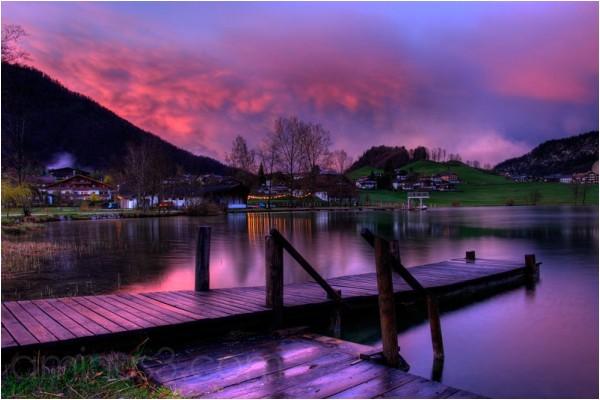 Thiersee, my hometown, Heimatstadt, HDR