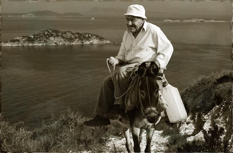 corfu ,Korfu, greece,donkey driver, Eseltreiber