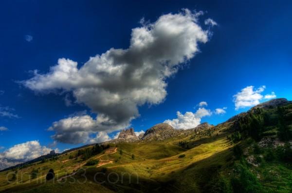 mountain track,  Dolomiten, Falzarego