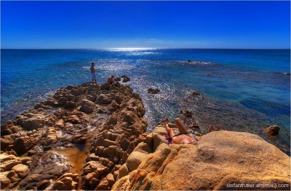 sunbath, Sonnenbad, Strand, sonnen