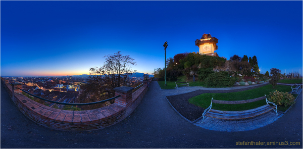 Graz, Uhrturm, Grazpanorama