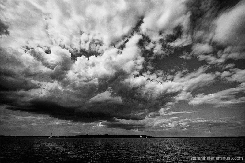 Chiemsee, Wolkenbank, cloud bank