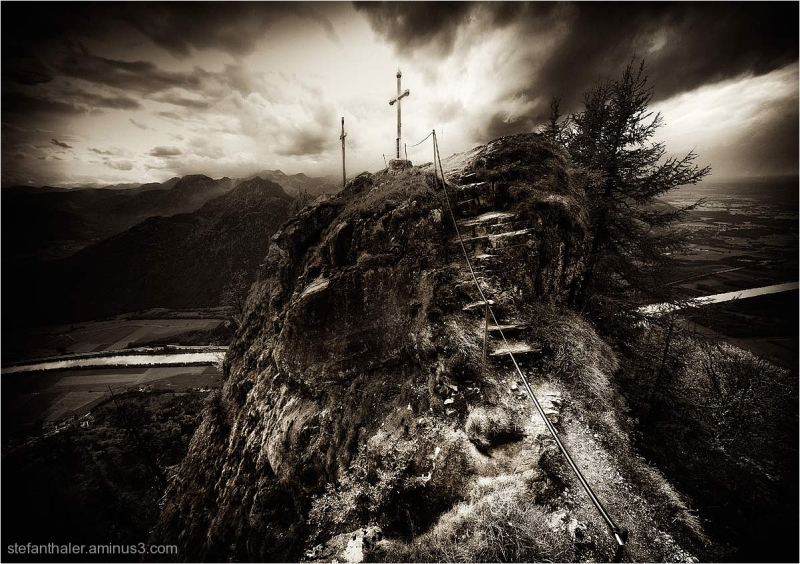Kranzhorn, Mountain with two summits crosses,