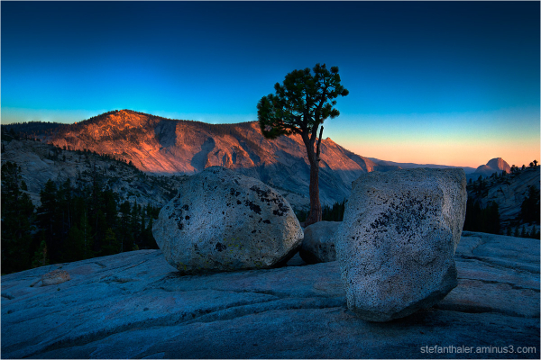 sunset at tioga pass