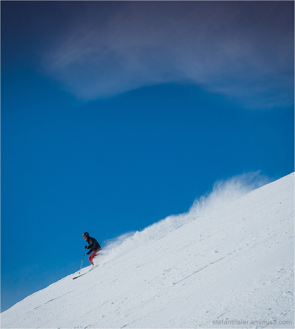 carving, snow, down the hill
