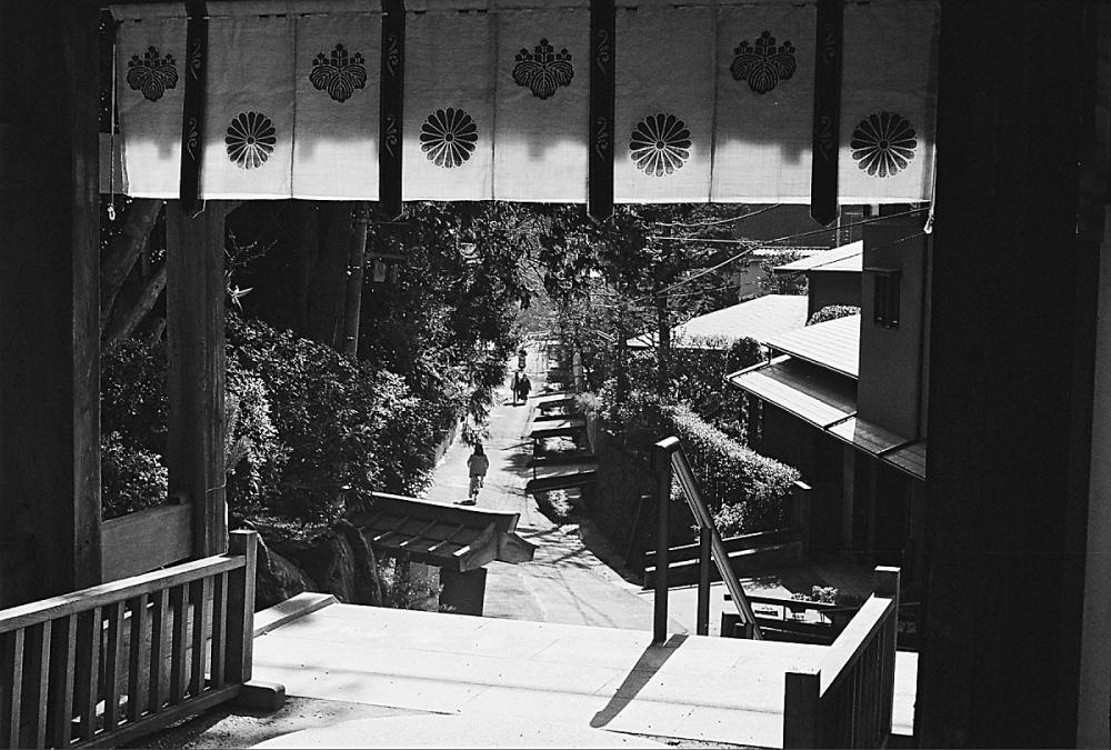 Kyoto neighbourhood street scene