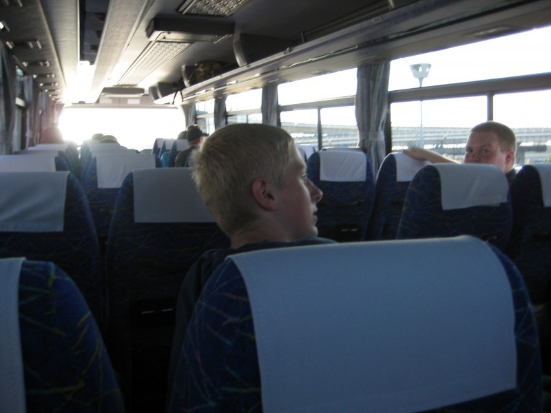 on the way to kyoto by charter bus