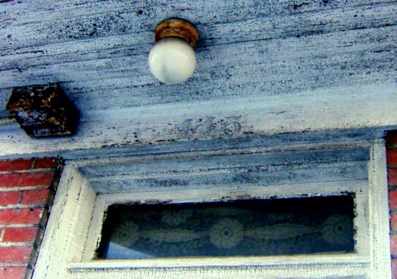 Delicate old entryway