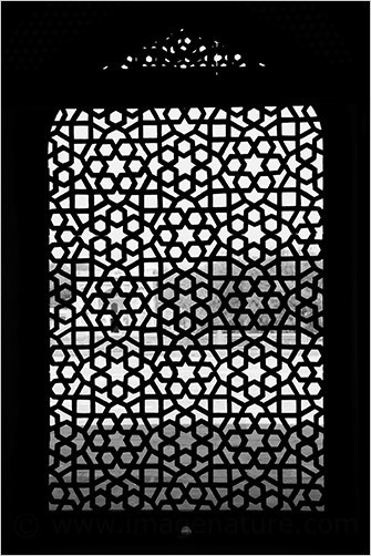 Ornamental window, Humayun's Tomb, Delhi