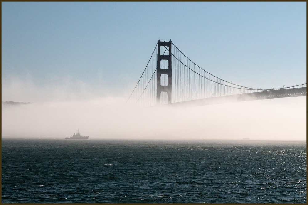 Sailing fog San Francisco Golden Gate Bridge
