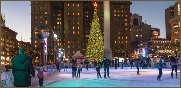 Union Square San Francisco CA Winter