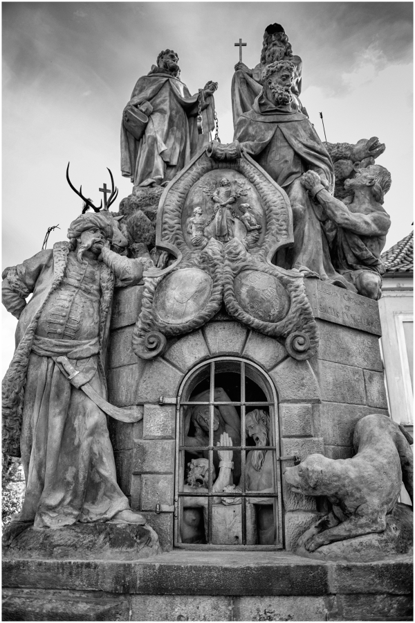 Charles Bridge Sculpture Prague Czech Republic