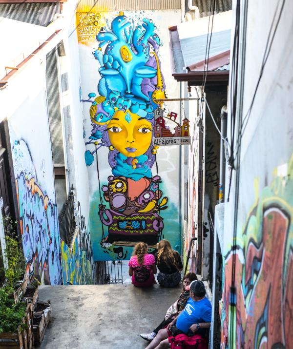 Valparaiso Murals Chile UNESCO site