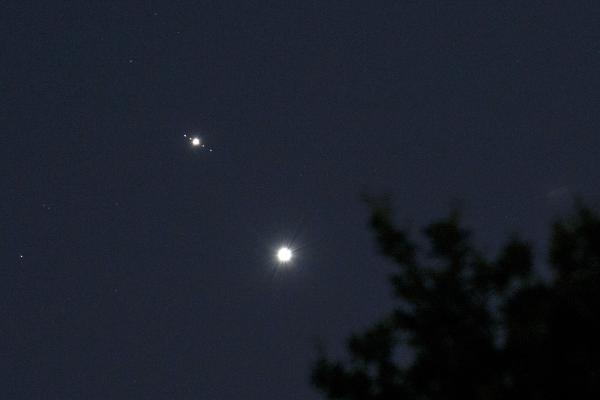 Jupiter moons and Venus