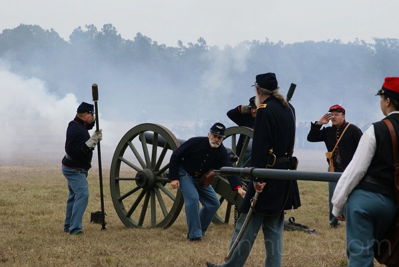 Canons were repeatedly fired...