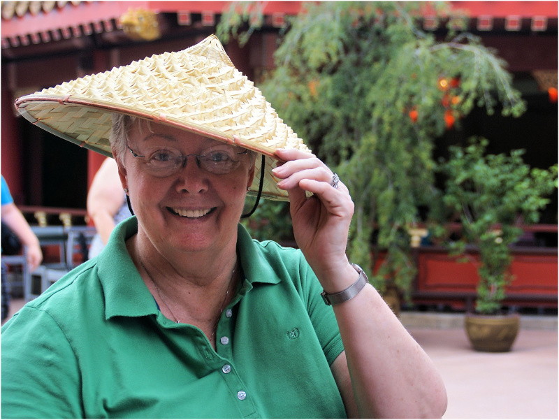 Silly me in China...
