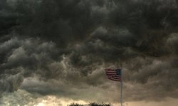 TURMOIL: a storm in the east...
