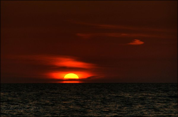 Sunset @ 8:01 pm...