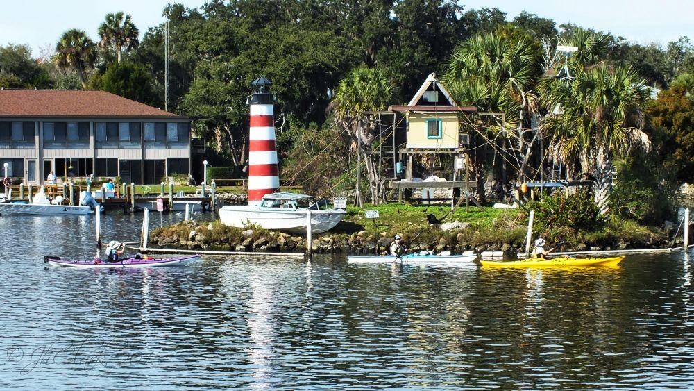 Kayaking around at Monkey Island!