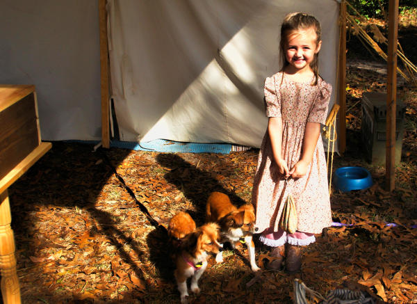 Arrie & her puppies...