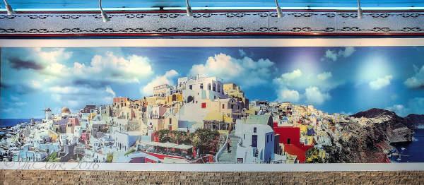 Santorini mural...