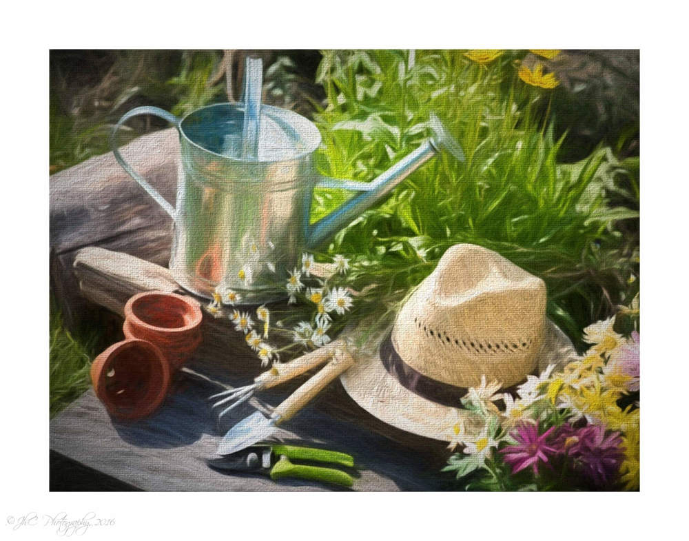 Garden Tools puzzle painting...