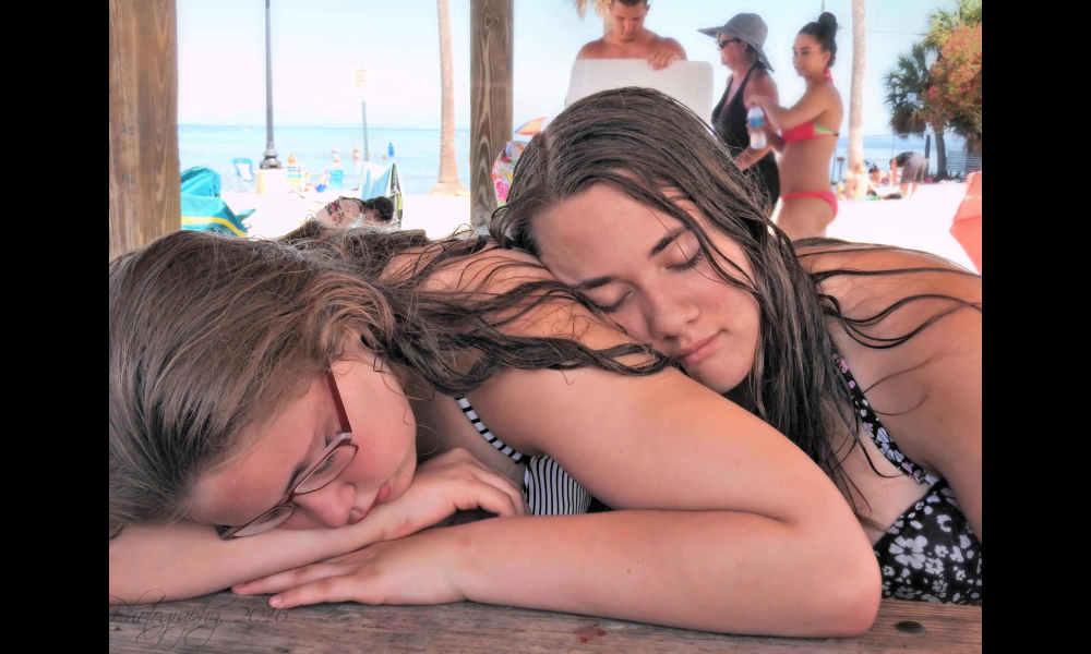 Sleepy cousins...